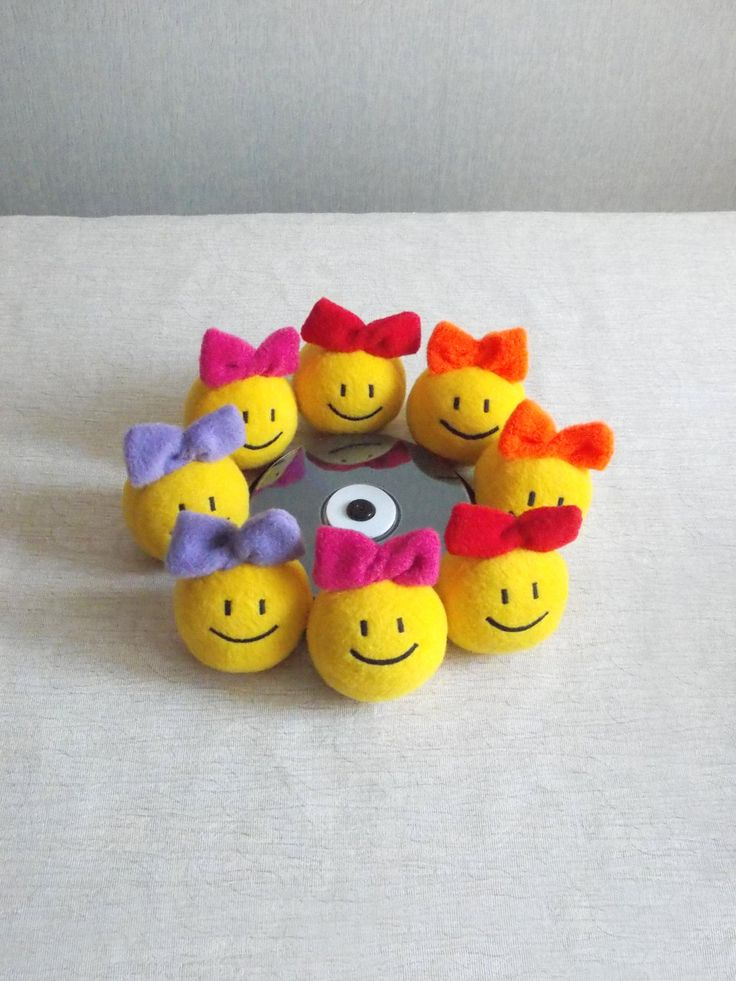 Coworker gift  gift for coworker office gifts gifts for colleagues gifts for friends tiny toys set gifts for colleagues 8 Smiley face (24.00 USD) by PillowsRollanda