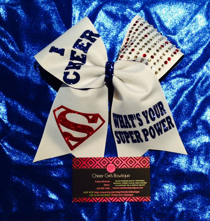 Superman Cheer Bow-- I FLY or I CHEER Superman Hair Bow by CheerGirlsBowtique on…
