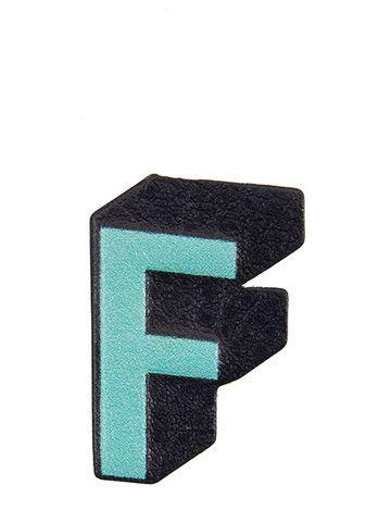 Skinnydip A-Z Plushie Sticker - 'F'