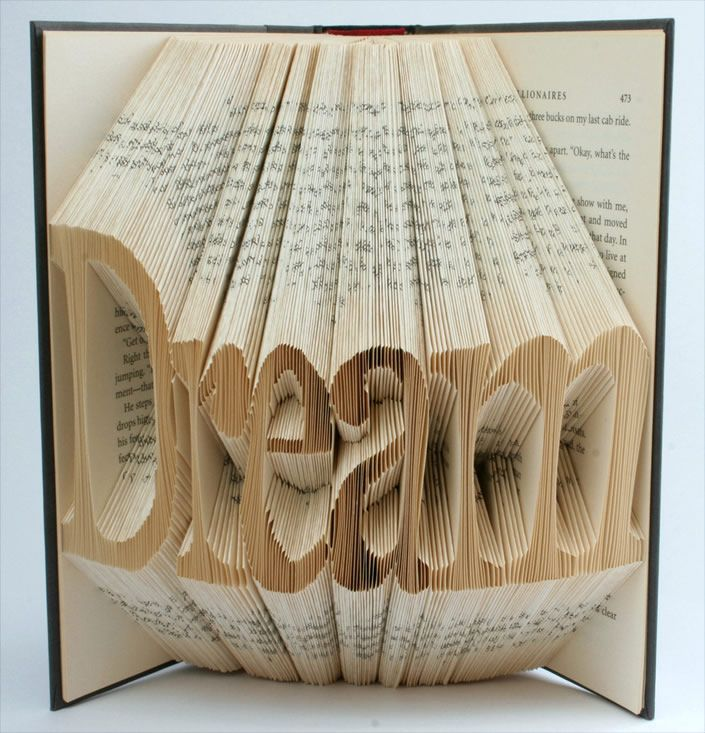 DREAM - Recycled book art