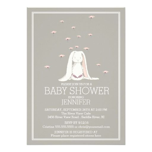 best 25+ bunny baby showers ideas on pinterest | baby shower cup, Baby shower invitations