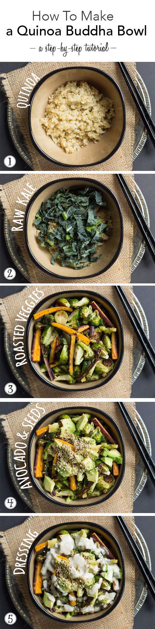Quinoa Buddha Bowl Recipe [tutorial post]