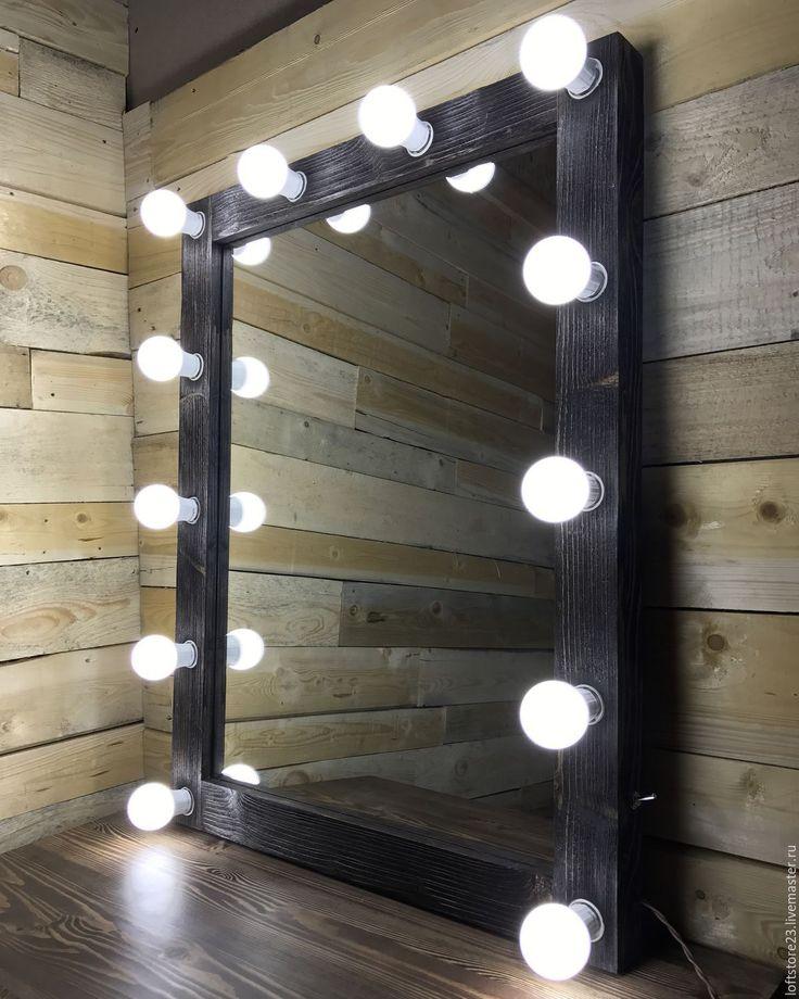 Купить Гримерное зеркало DARK WOOD. - коричневый, зеркало, зеркало назаказ, зеркало под заказ