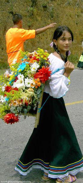 Desfile de Silleteros. Medellin , Antioquia, COLOMBIA