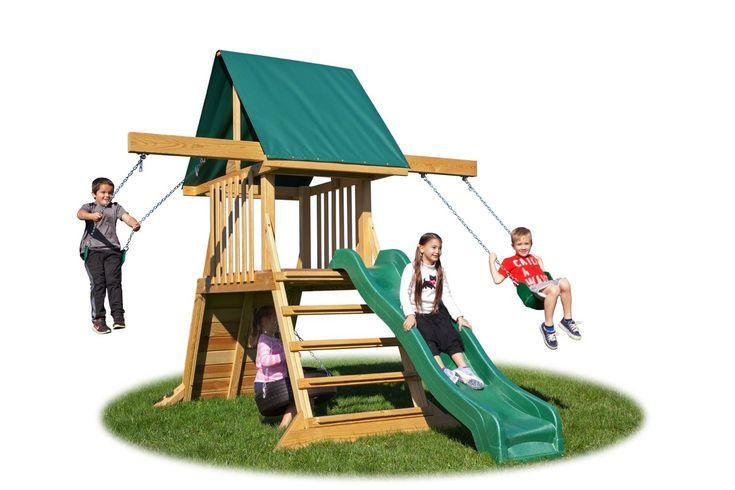 Backyard Cliff Climb Play Swing Set $1500 on sale at Wayfair...