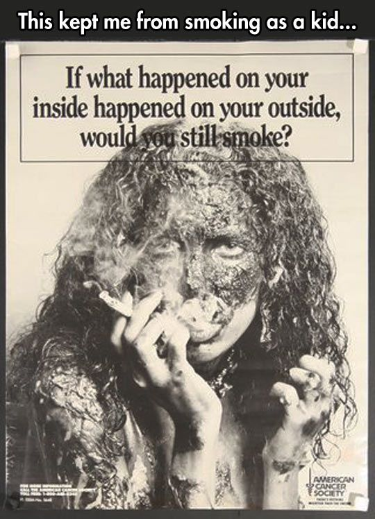 I remember this ad hanging in the nurse's office of my elementary/middle school!