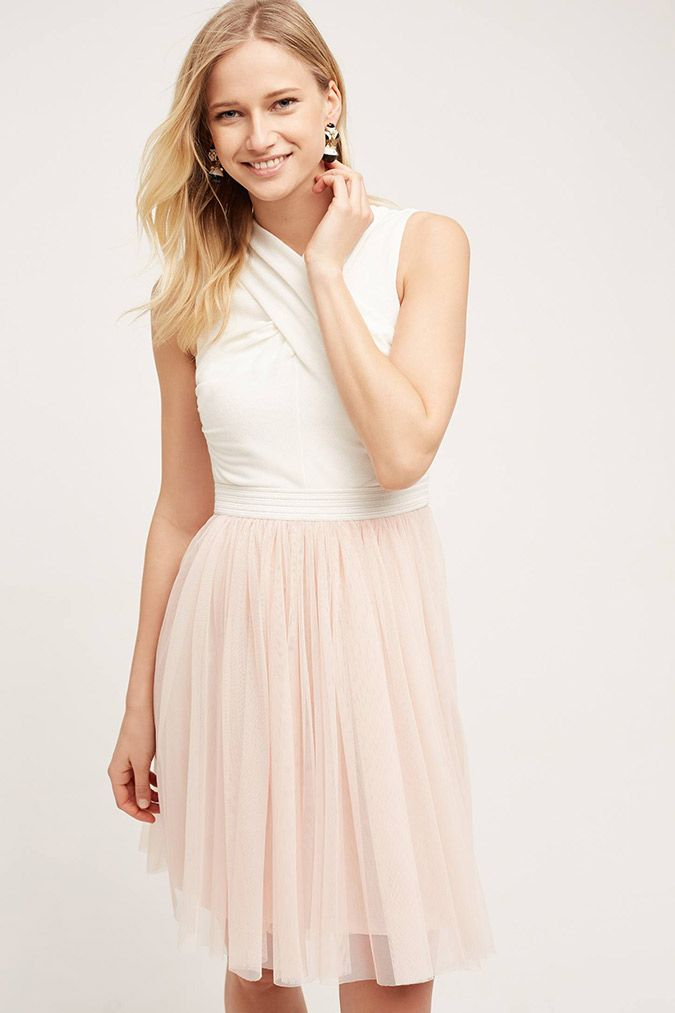 Anthropologie Darla Tulle Dress - ballet inspired fashion