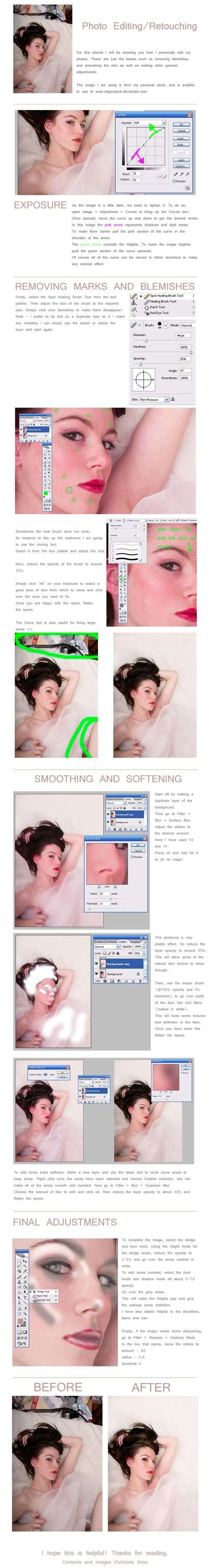 Basic Photo Editing Tutorial by `TheTragicTruth-Of-Me on deviantART - Click image to find more Photography Pinterest pins