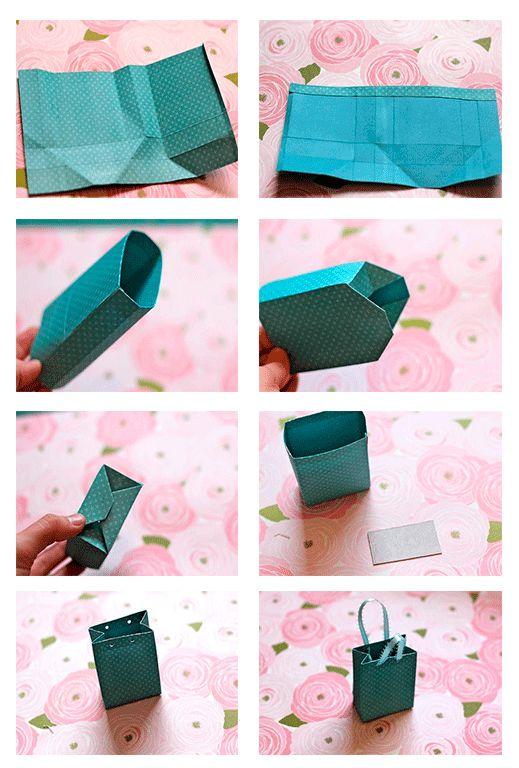 Como hacer bolsa de regalo con molde bolsas de papel - Hacer bolsas de papel en casa ...