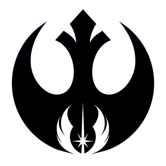 geeky star wars tattoo of the rebel alliance and jedi