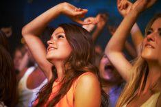 These girls love music stock photo