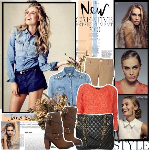 """690. Model Style: Jana Beller (OK! Magazine 10/2011)"" by chocolatepumma ❤ liked on Polyvore"