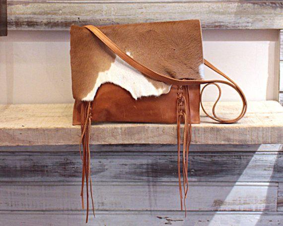 Cowhide bags cow hide crossbody purse cowhide clutch by Percibal
