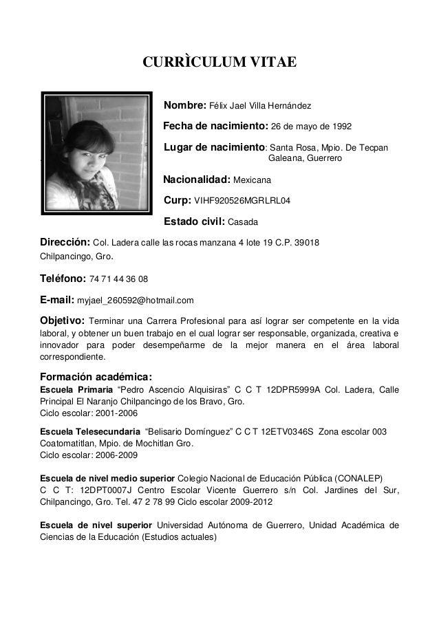 Curriculum Vitae 4 Medio Modelos De Curriculum Vitae Curriculum