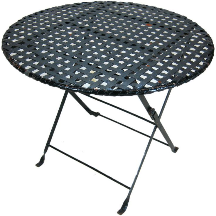 Folding Metal Garden Table | From a unique collection of antique and modern garden furniture at https://www.1stdibs.com/furniture/building-garden/garden-furniture/