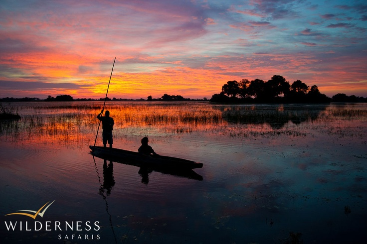Jao Camp - Mokoro, boat trips, fishing, day and night game drives and birding are usually on offer all year round due to the abundance of wildlife in Botswana. #Safari #Africa #Botswana #WildernessSafaris