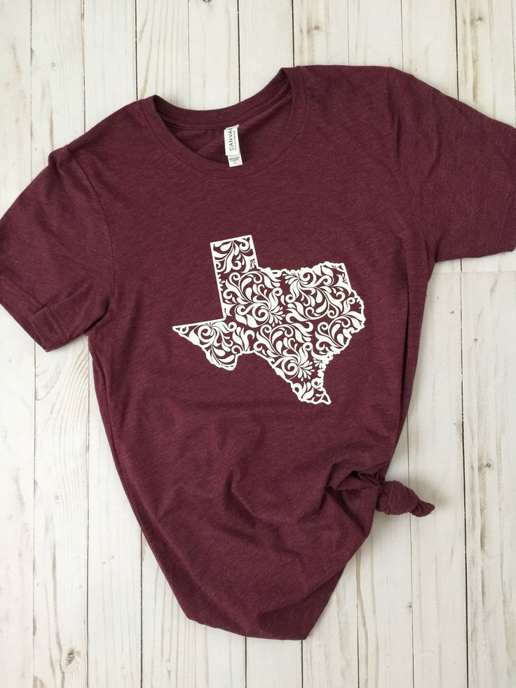Texas Shirt/Texas Floral Shirt/Texas Design/Womens Texas Shirt/ ladies Texas Shirt/Texas/Texas Tee/Maroon Tee by 2PeasInAPodCo on Etsy https://www.etsy.com/listing/531154733/texas-shirttexas-floral-shirttexas