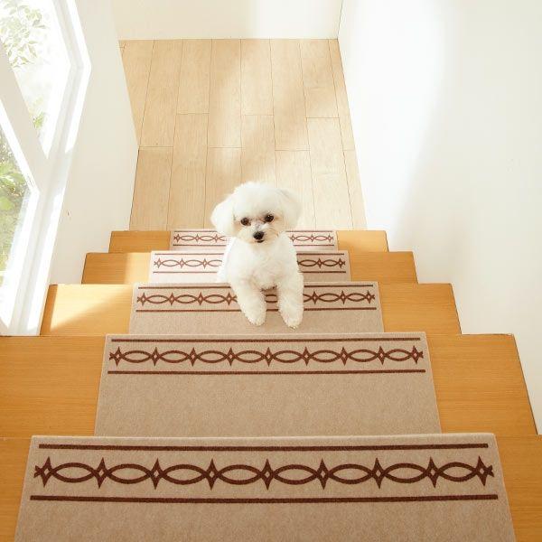 大型犬 階段滑り止めマット   ゴールデンの、りきまる情報館 ピタッと吸着階段マット・すべり止め付 (階段マット) icon