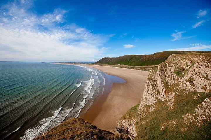 Rhossili Bay near Swansea, Wales