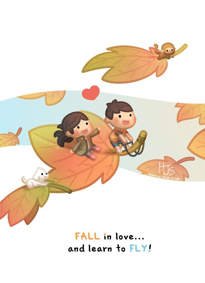 Another new image that's part of the 2018 Calendar artwork! An episode dedicated to the beautiful Autumn season, falling in love makes us all fly!