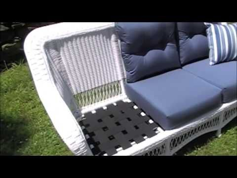 Outdoor Wicker Furniture Video, Recorded In New Rochelle, New York Http://