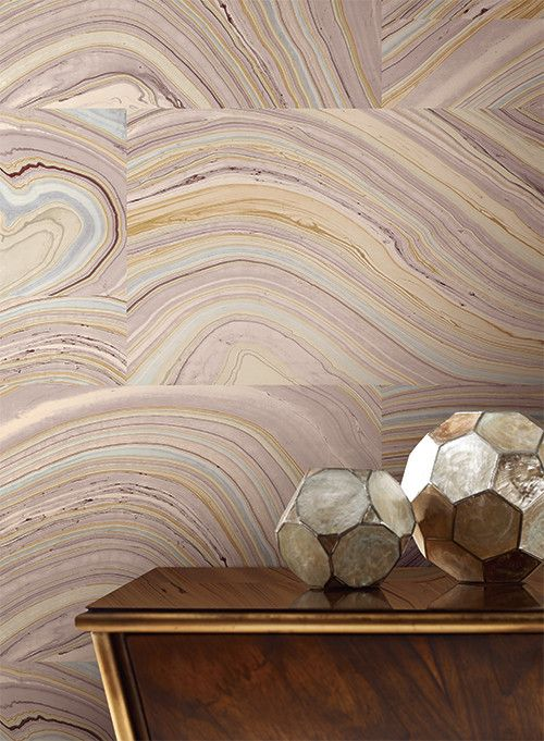 Onyx Wallpaper in Purple design by Candice Olson for York Wallcoverings | BURKE DECOR