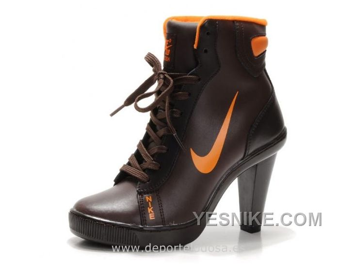 Womens Nike Dunk SB High Heels Ankle Boots Chocolate Orange 77qy
