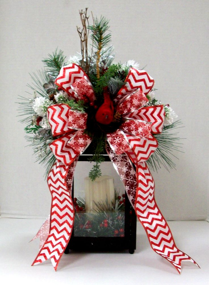 Chevron Ribbon Holiday Lantern Designed By Christy R A C