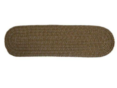 Best Rhody Rug Dixon Flax 8 Inch By 28 Inch Braided Stair Tread 640 x 480