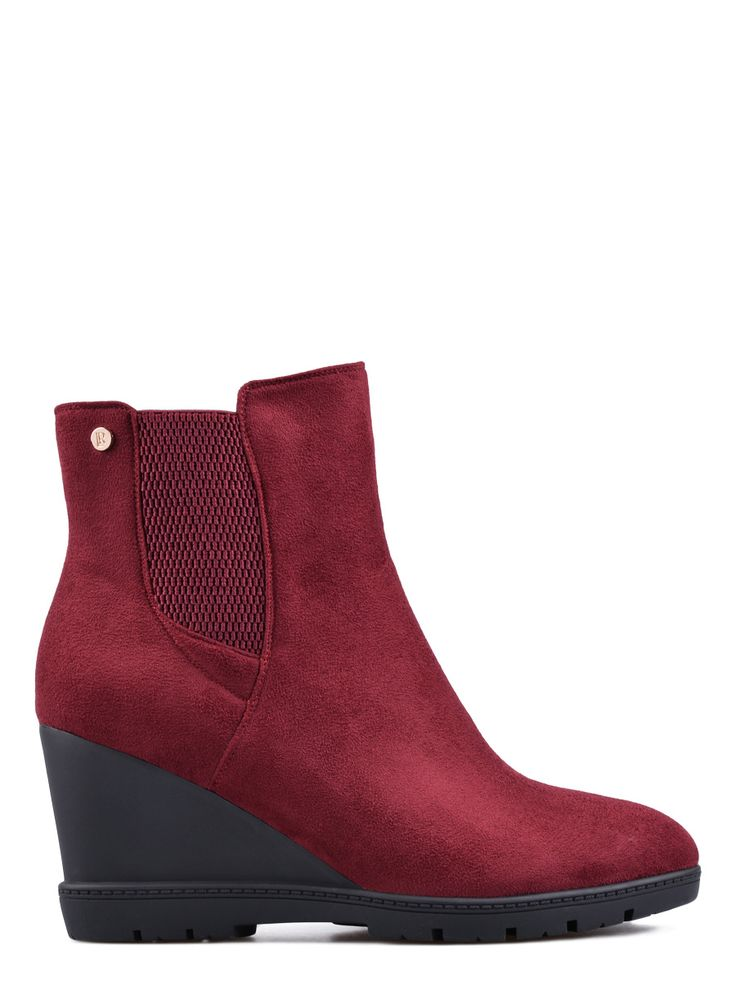 Γυναικείες μπότες TENDENZ - μπορντώ