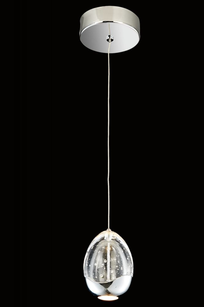The Lighting Centre Guildford Polished Chrome Tear Drop Single Pendant