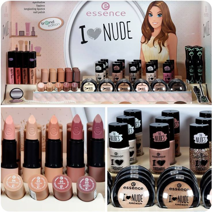 """hi beauties, nude is the absolute beauty trend of 2015! the soft shades in our new """"i love nude"""" trend edition give your eyes, lips and nails a perfect nude look. and the best thing is: all of the products will be joining our standard range in february. """"heart""""-Emoticon  have you seen the new display in stores yet?  check out the entire collection here:http://bit.ly/1E724ZX  #essence #cosmetics #trendedition #ilovenude #nudelips #essenceupdate"""