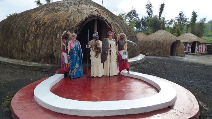 A replica of the Kings palace at Ibyi'wacu cultural village in Kinigi, Musanze - Rwanda