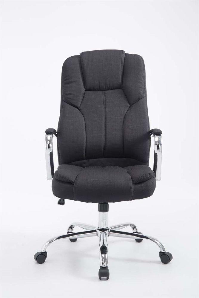 Black Fabric Desk Chair High Back Computer Office Seat Executive