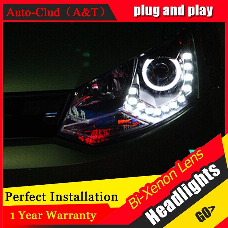 494.37$  Watch here - http://alis8j.worldwells.pw/go.php?t=32695636710 - Auto Clud For vw polo headlights 2011-2014 bi xenon lens car styling H7 parking LED For vw polo led DRL car led head lamps 494.37$