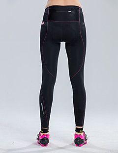SANTIC Calças Elásticas para Ciclismo Mulheres Moto Meia-calça Calças Shorts Acolchoados Respirável Confortável Tapete 3DElastano Náilon