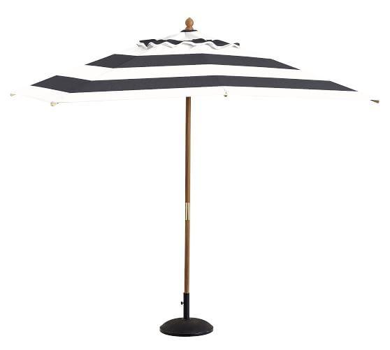 Premium Sunbrella® Rectangular Umbrella - Striped
