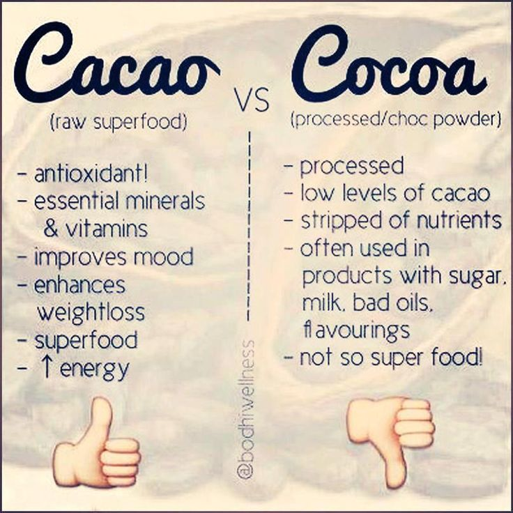 Cacao powder vs. cocoa powder  We use raw organic cacao powder in our OH BARs!
