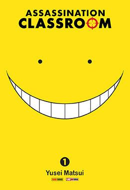 "Assassination classroom. 1, Time for assassination"", by Yusei Matsui - The students in Class 3-E of Kunugigaoka Junior High have a new teacher: an alien octopus with bizarre powers and unlimited strength, who's just destroyed the moon and is threatening to destroy the earth--unless they can kill him first!"