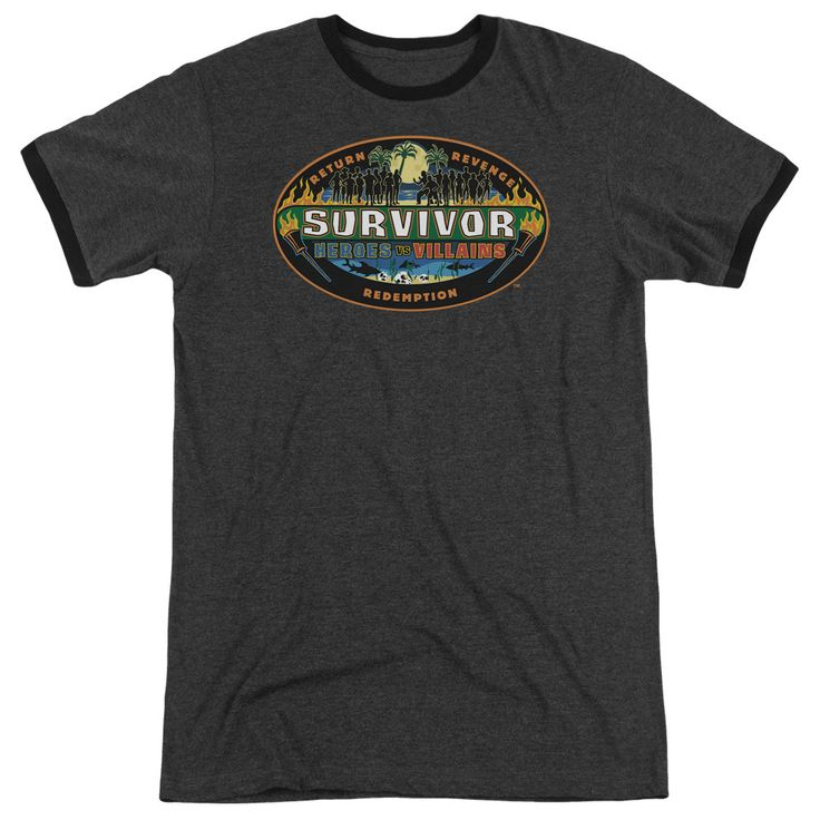 Survivor - Heroes Vs Villains Adult Ringer T- Shirt