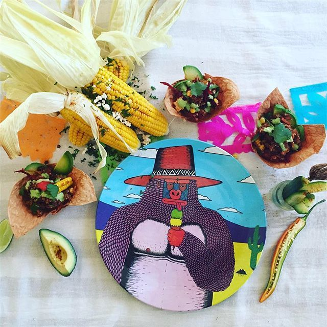 Have you seen our Sorbet Pete plate online?! 🦍  This chilled out gorilla was designed by Mulga the Artist for LaLaLand and is only $16.95, shop link in our bio 🌴🍌