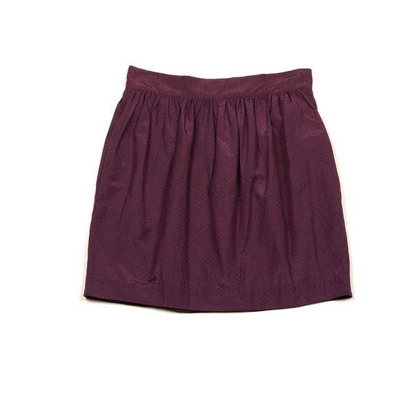 Charlotte Ronson Skirts Plum Tulip Mini Skirt - StyleCaster found on Polyvore