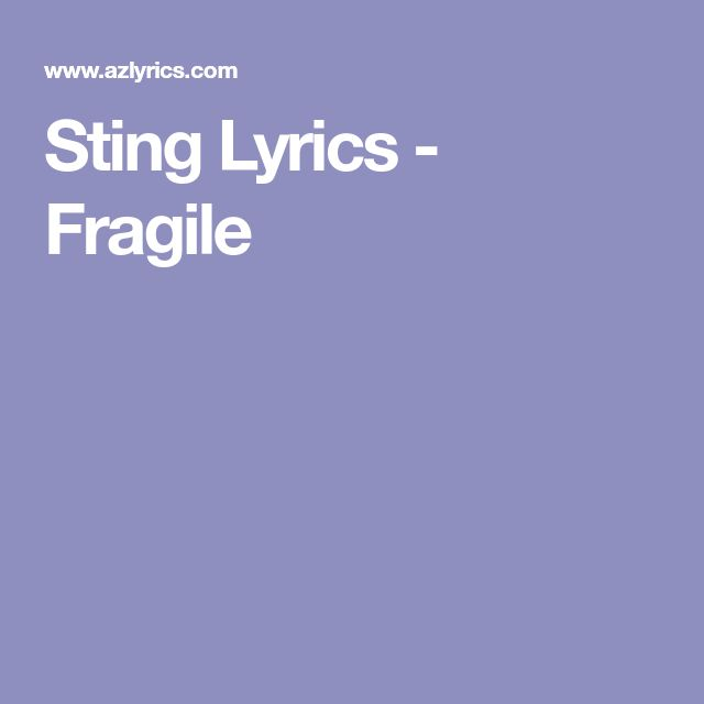 Best 25+ Sting lyrics ideas on Pinterest | Sting musician, Sumner ...