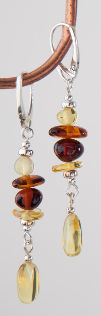 Stacked Amber Earrings, Earrings, Jewelry - The Museum Shop of The Art Institute of Chicago