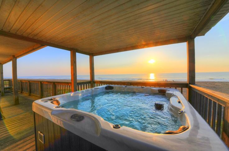 What better way to relax and STAY WARM during the cold winter months than in your very own Hot Tub!  Come stay in one of our luxury vacation rentals and live the good life!  #hottub #staywarm #sandbridge #sandbridgebeach #vabeach #virginiabeach #siebert #hottubrental   Siebert Realty - The Beach People Sandbridge Beach, Virginia Beach, VA
