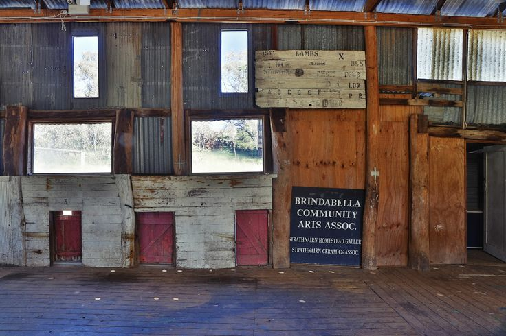 The interior of the Woolshed, Strathnairn Arts.