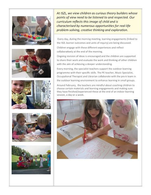 Play in Preschool - Early Learning at ISZL ≈≈
