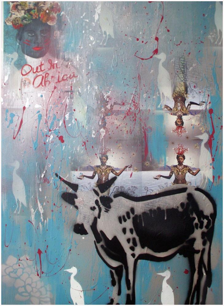 Nguni - Painting by Mary-Louise Bicket | StateoftheArt.co.za