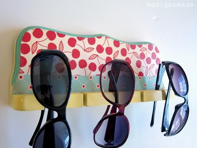 Colourful sunglass holders...