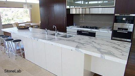 Кухонная столешница из мрамора Калакатта, Calacatta Marble